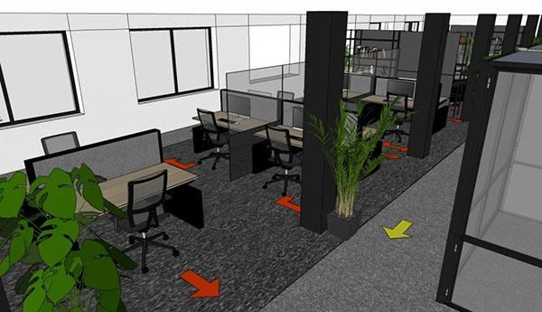 1,5 meter kantoor indeling