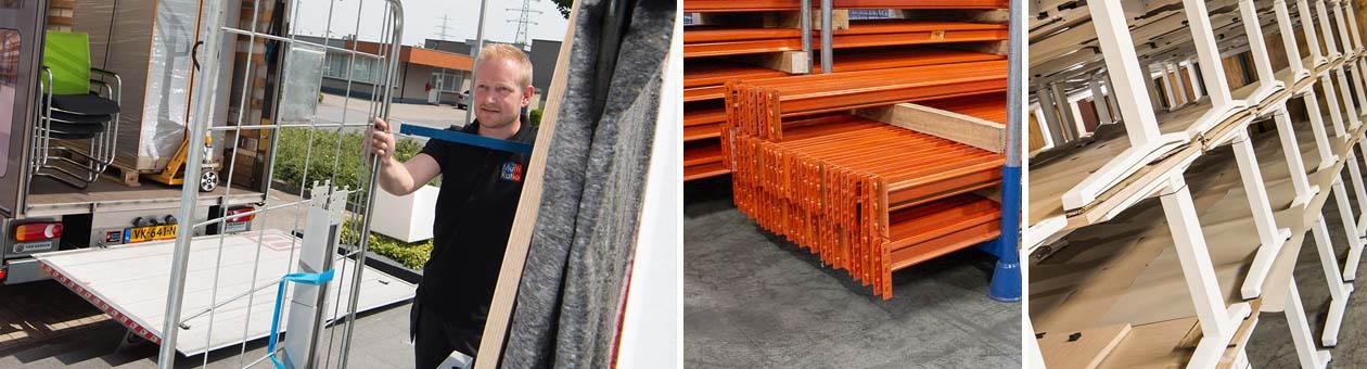 Opkoop, inruil en afvoer van kantoormeubilair en magazijninrichting