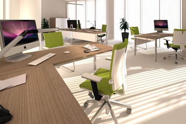 3D ontwerp van een Design kantoorinrichting
