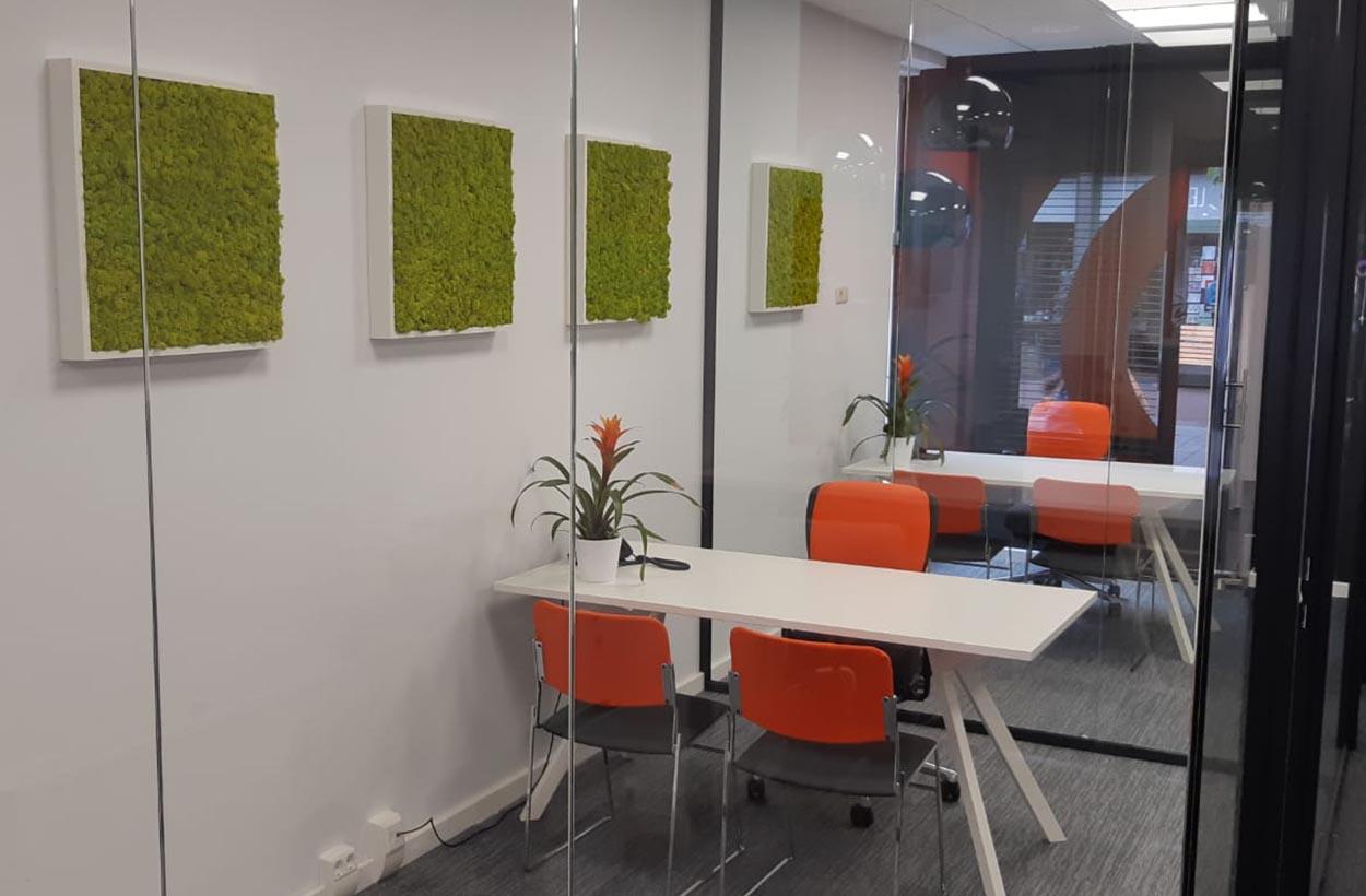 Raaak kantoorinrichting wanddecoratie (Waalwijk)