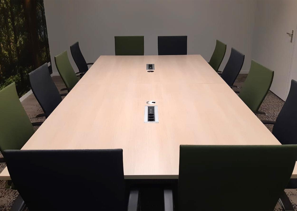 vergadertafel voor